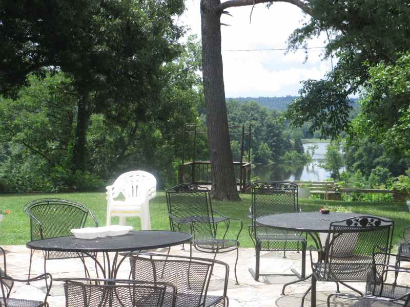 Patio behind the Pennyrile Forest State Resort Park Lodge