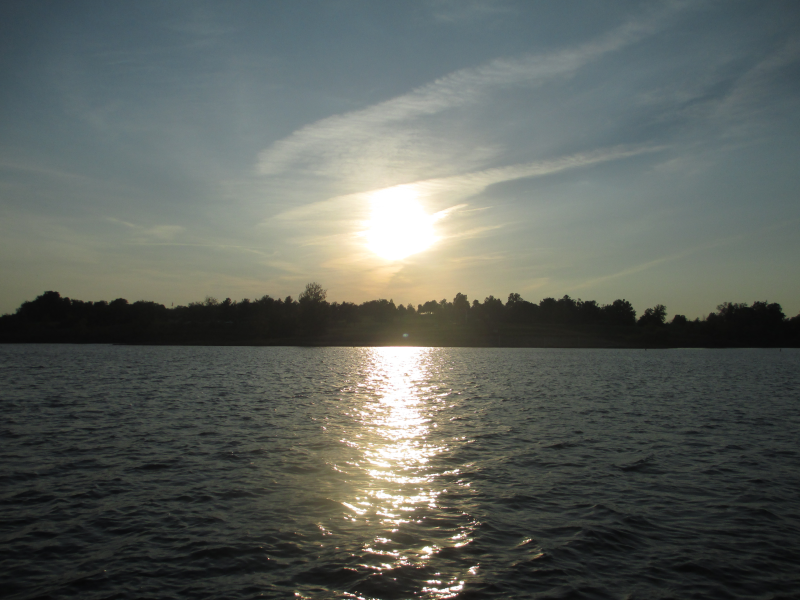 Sunset on Rough River Lake