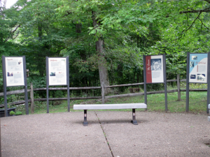 Carter Caves State Resort Park, Behind the Welcome Center/Gift Shop