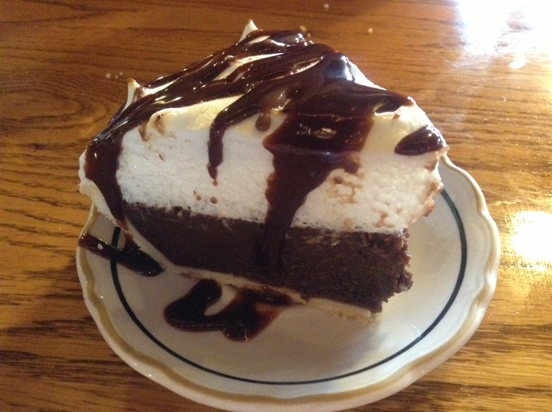 Shady Cliff Restaurant Chocolate Pie