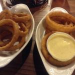 "Onion Rings and ""In House"" Honey Mustard Sauce at the Feed Mill (Morganfield, Ky)"