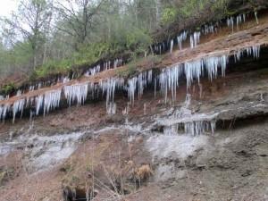 Icicles near Rockcastle River