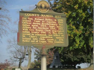 Butler County Historical Sign