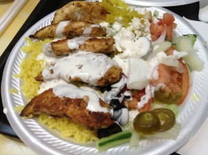 Sam's Gyros Chicken Plate