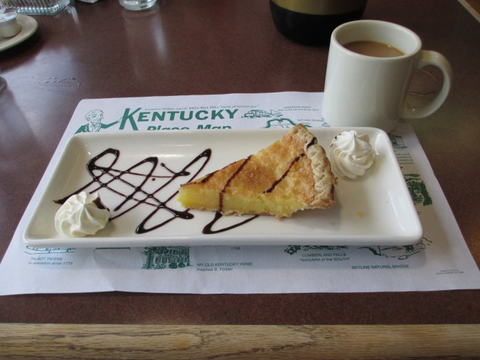 Chess Pie and Coffee at Kentucky Dam Village State Resort Park's Harbor Lights
