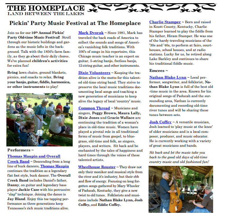 Homeplace Pickin' Party 2014