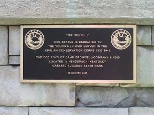 The Worker Statue at John James Audubon State Park