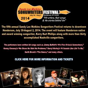 Sandy Lee Watkins Songrwriters Festival Henderson Ky