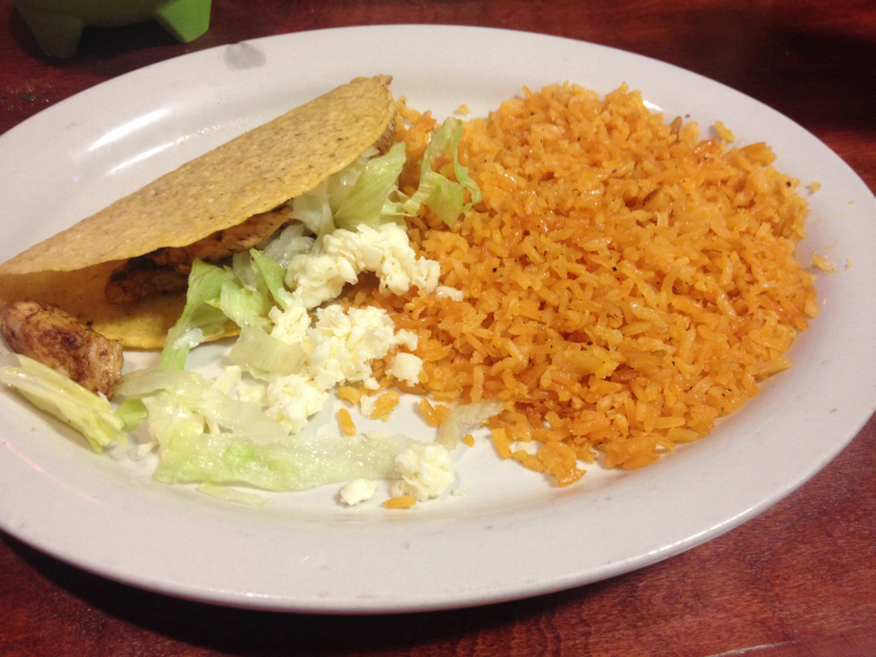 Mi Ranchito Owensboro Grilled Chicken Taco and Rice