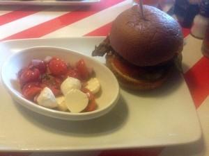 TGIFridays Burger on a Gluten Free Bun