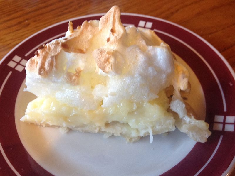Coconut Cream Pie: Shady Cliff Resort Restaurant Ky