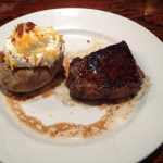 LongHorn Steak and Baked Potato
