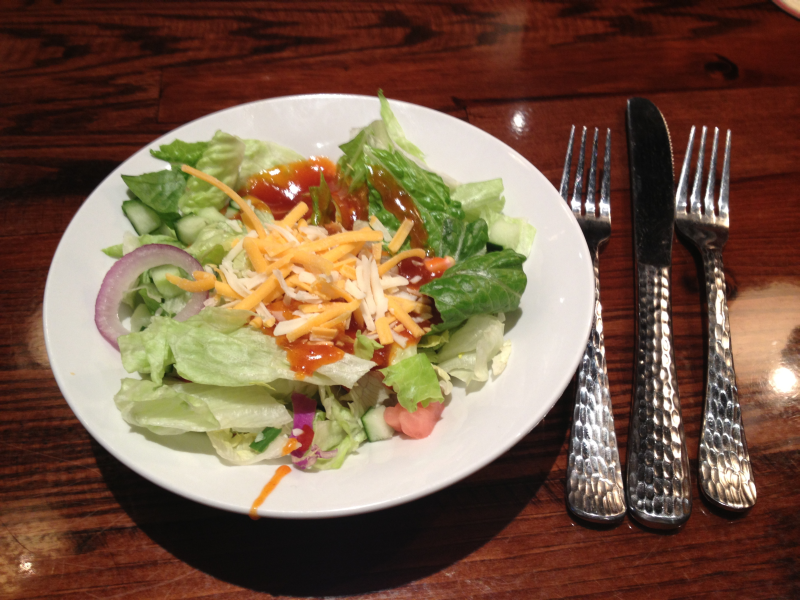 Longhorn Steakhouse Salad with French Dressing No Croutons