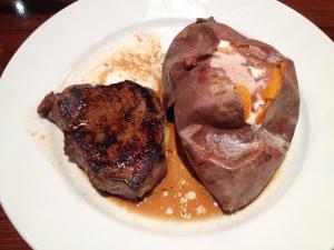 LongHorn Steakhouse Steak and Baked Sweet Potato