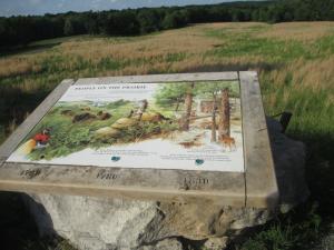 Inromative Plaque at the Elk & Bison Prairie, LBL