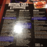 Mustang Grill and Steakhouse Menu