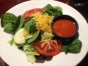 Mustang Grill and Steakhouse Salad with French Dressing