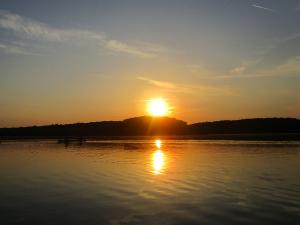 Canoeing at Sunset on Honker Lake