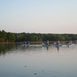 Canoeing on Honker Lake