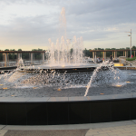 Fountain at Smothers Park on the Owensboro Riverfront