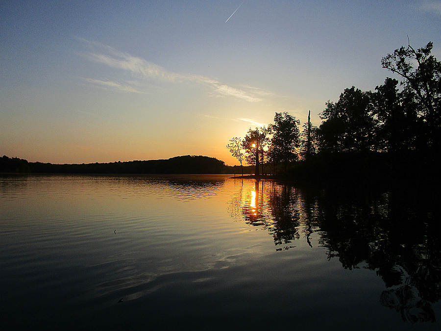 Sunset on Honker Lake