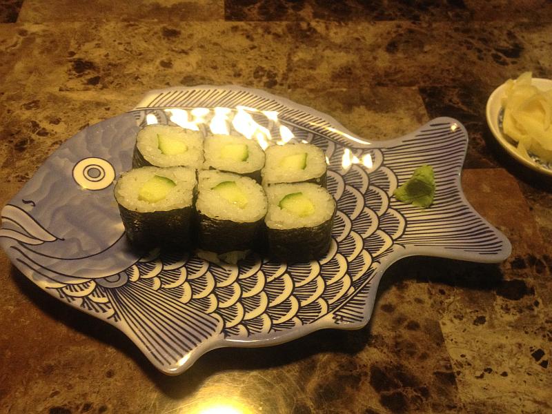 Sushi at Wasabi Express in Owensboro Kentucky