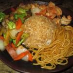 Wasabi Express Shrimp Hibachi and Rice