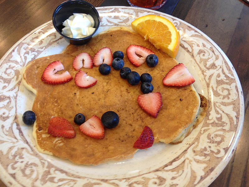 Another Broken Egg's Gluten Free Pancake with Berries