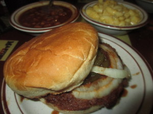 Old Hickory Pulled Pork Sandwich and Sides