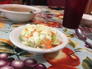 Willow Pond, Aurora: Coleslaw and Beans