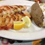 Willow Pond Grilled Shrimp and Baked Potato