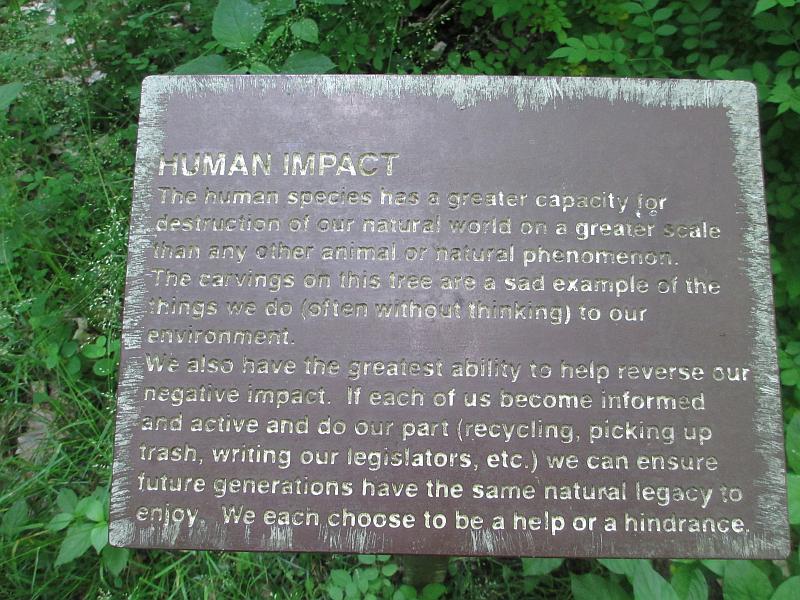 Human Impact Marker at John James Audubon State Park
