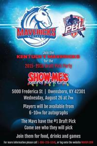 Kentucky Mavericks Draft Party Owensboro