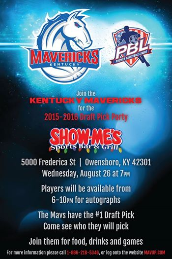 Kentucky Mavericks Draft Party Owensboro
