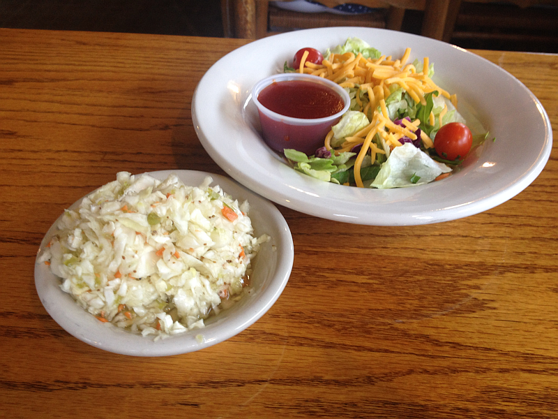 Shady Cliff Restaurant Coleslaw and Salad