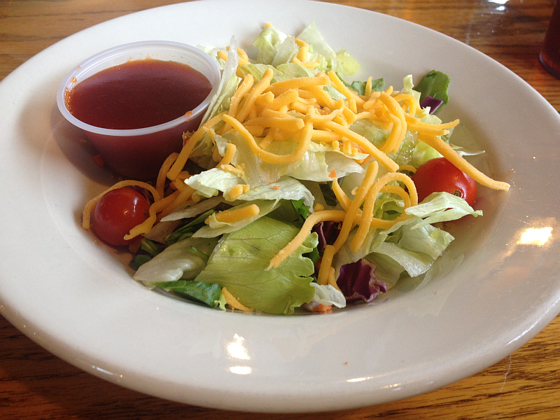 Shady Cliff Restaurant Salad with Delicious French Dressing