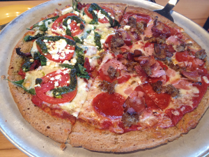 Gluten Free Pizza at Mellow Mushroom in Bowling Green, Ky.