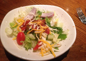 Salad at the Outback in Bowling Green, Kentucky