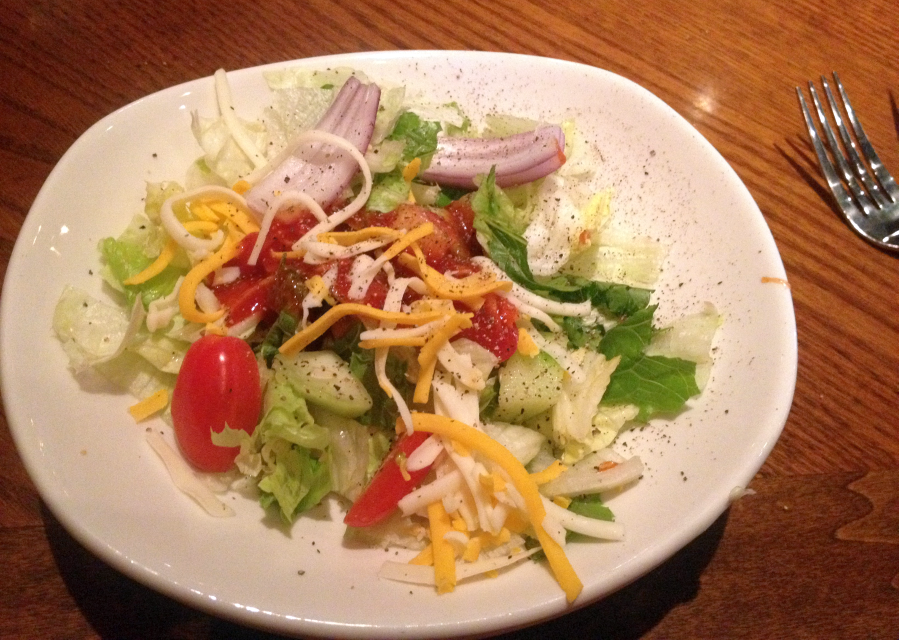 Salad at Outback in Bowling Green, Kentucky