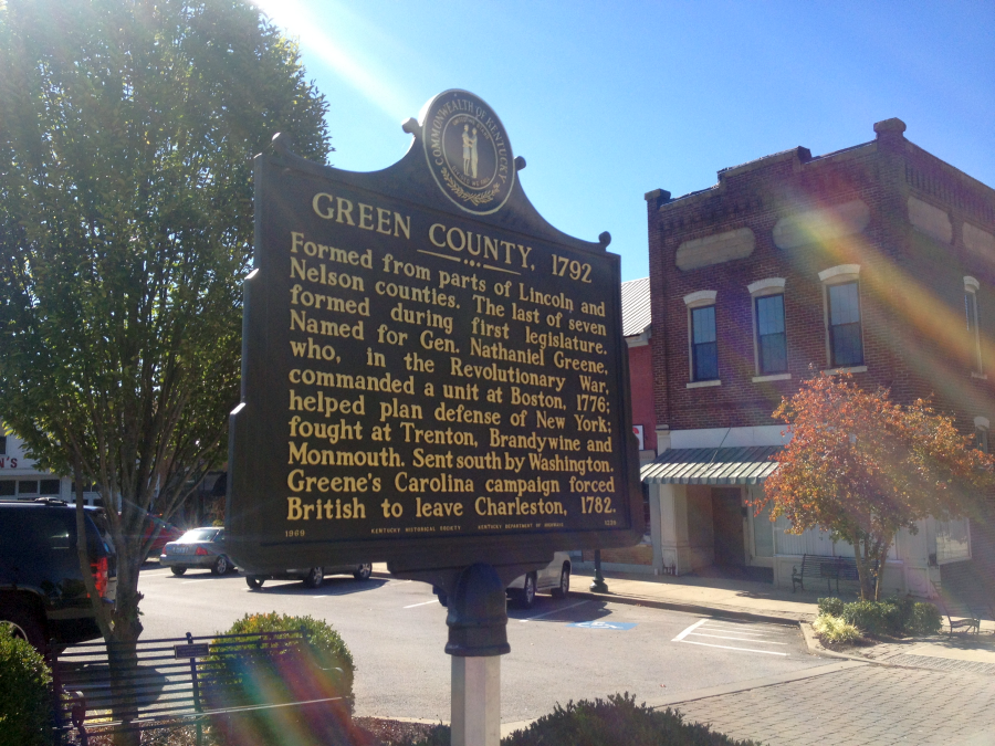 Green County Historic Marker