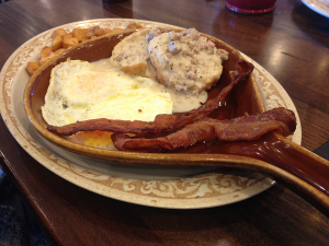 Eggs, Sausage Gravy, Biscuits, and Potatoes at Another Broken Egg