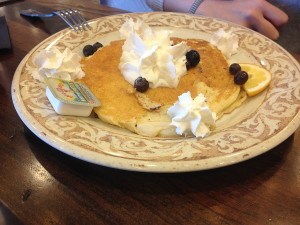 Gluten Free Jumbo Pancake with Fruit at Another Broken Egg in Owensboro