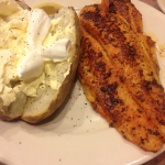 Eddyville Willow Pond Catfish and Baked Potato