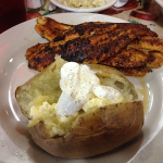 Willow Pond Blackened Catfish and Baked Potato