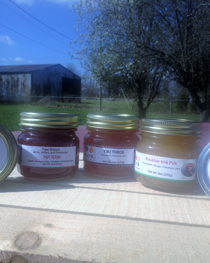 Two Sisters Jams Jellies and Preserves