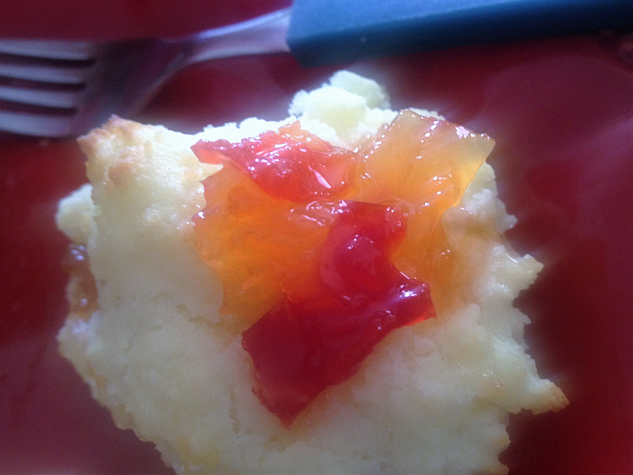 Two Sisters Tiki Torch Jam on a Gluten Free Biscuit