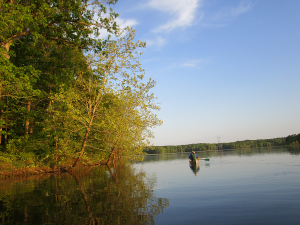 Canoeing on Honker Lake at the Nature Station in the Land Between the Lakes