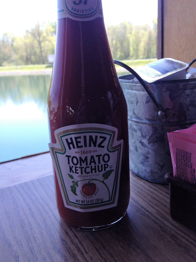 Heinz Ketchup at Catfish Kitchen