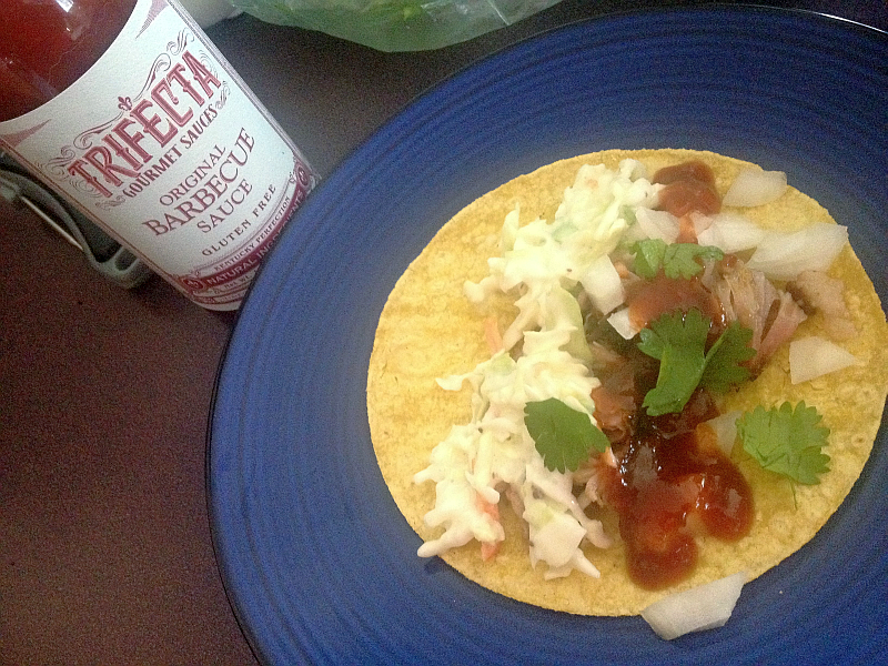 Trifecta BBQ Sauce and Shredded Pork Taco