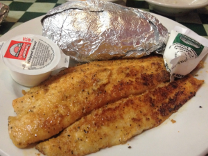 Willow Pond Grilled Catfish and Baked Potato